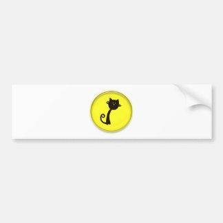 Cute Cartoon Black Cat Bumper Sticker