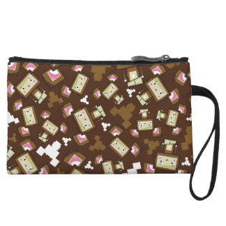 Cute Cartoon Blockimals Bear Clutch Purse