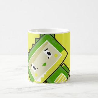 Cute Cartoon Blockimals Crocodile Coffee Mug