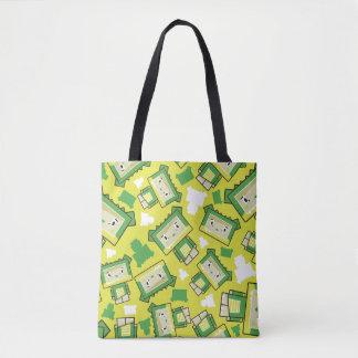 Cute Cartoon Blockimals Crocodile Tote Bag
