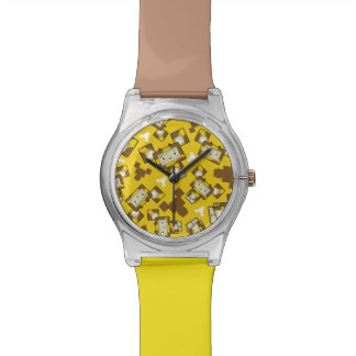 Cute Cartoon Blockimals Giraffe Watch