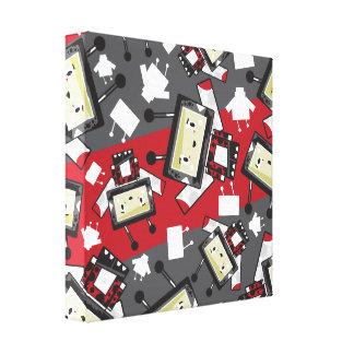 Cute Cartoon Blockimals Ladybird Canvas