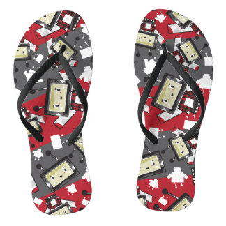 Cute Cartoon Blockimals Ladybird Flip Flops
