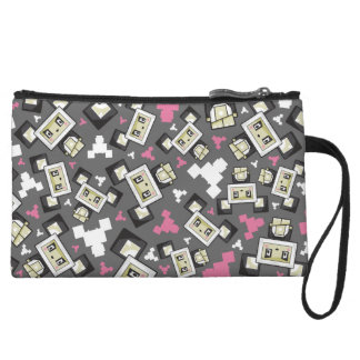 Cute Cartoon Blockimals Panda Bear Clutch Purse