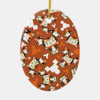Cute Cartoon Blockimals Tiger Christmas Ornament