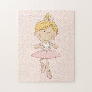 Cute Cartoon Blonde Ballerina Jigsaw Puzzle