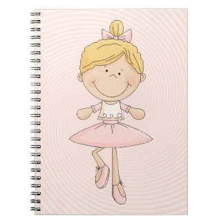 Cute Cartoon Blonde Ballerina Notebook