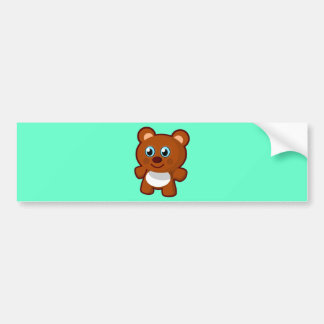 Cute Cartoon Blue Eyed Teddy Bear Bumper Stickers