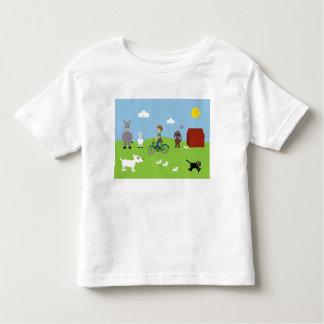 Cute Cartoon Boy & Animals Customizable Charity Toddler T-Shirt