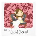 Cute Cartoon Bride Bridal Shower Invitation