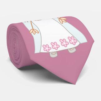 Cute cartoon bride tie