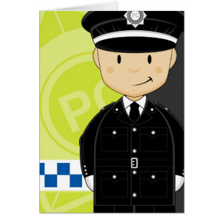 Cute Cartoon British Policeman Card
