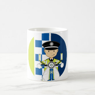 Cute Cartoon British Policeman Coffee Mug