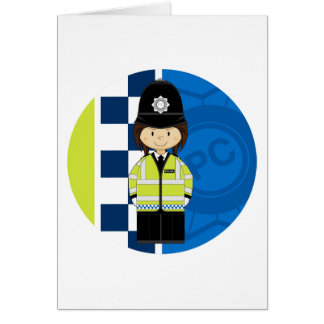 Cute Cartoon British Policeman Greeting Card