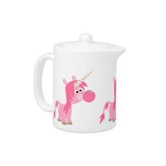 Cute Cartoon Bubble Gum Unicorn Teapot
