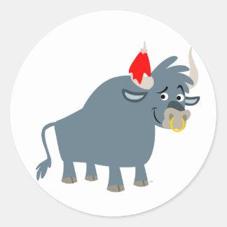 Cute Cartoon Bull sticker