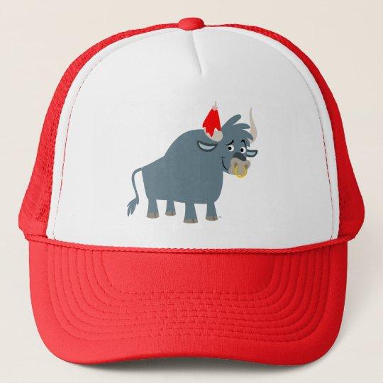 Cute Cartoon Bull Trucker Hat
