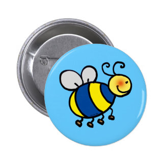 Cute cartoon bumble bee 6 cm round badge