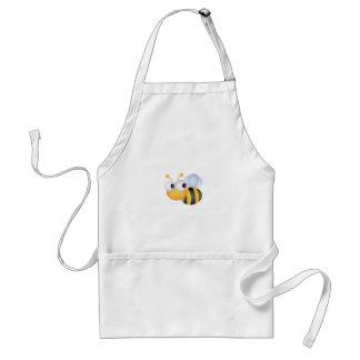 CUTE CARTOON BUMBLEBEE BEE HONEYBEE smiling orange Aprons