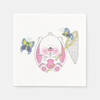 Cute Cartoon Bunny Disposable Serviette