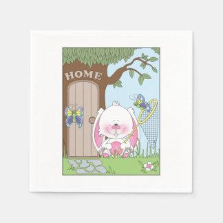 Cute Cartoon Bunny Paper Serviettes
