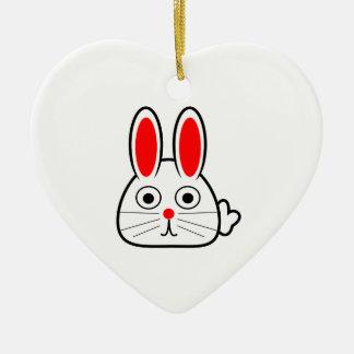 Cute Cartoon Bunny Rabbit Christmas Ornament