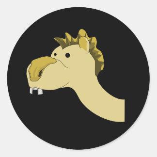 Cute Cartoon Camel Classic Round Sticker