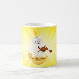 Cute cartoon candle mug yellow