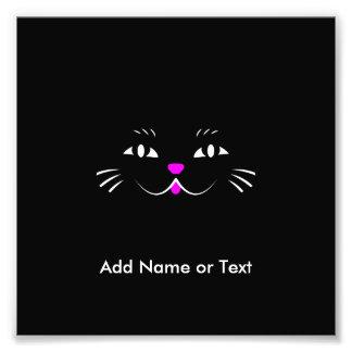 Cute Cartoon Cat Face Photo