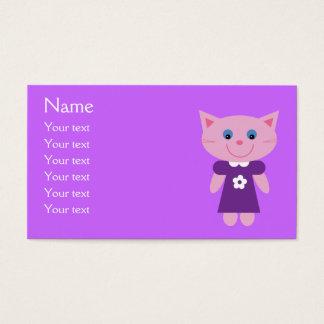 Cute Cartoon Cat In Purple Dress Custom Lilac