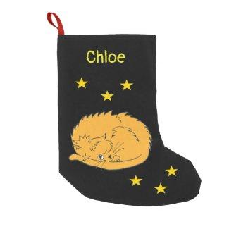 Cute Cartoon Cat with Stars