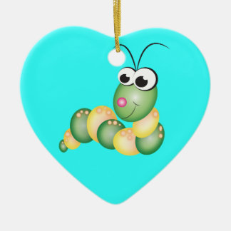 Cute Cartoon Caterpillar Christmas Ornament