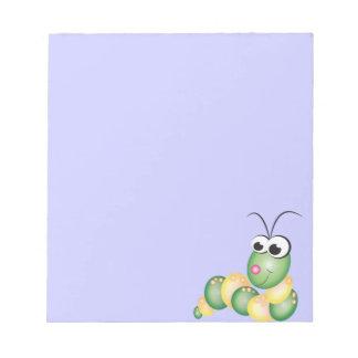 Cute Cartoon Caterpillar Notepad