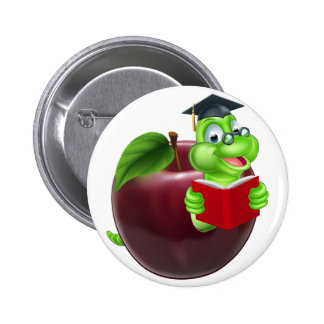 Cute Cartoon Caterpillar Worm 6 Cm Round Badge