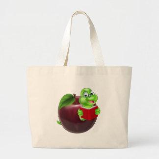 Cute Cartoon Caterpillar Worm Jumbo Tote Bag
