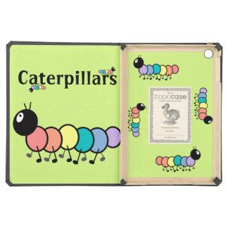 Cute Cartoon Caterpillars Grass Green Background iPad Air Case