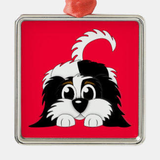 Cute Cartoon Cavachon Christmas Ornament