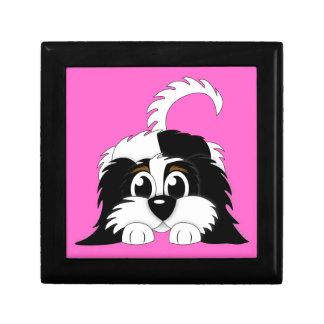 Cute Cartoon Cavachon Small Square Gift Box
