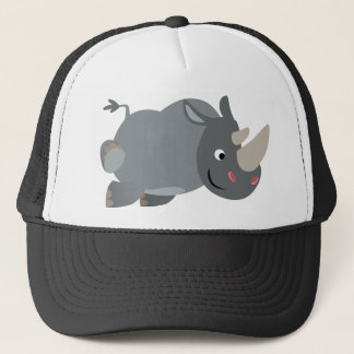 Cute Cartoon Charging Rhino Hat