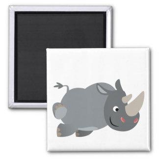 Cute Cartoon Charging Rhino Magnet