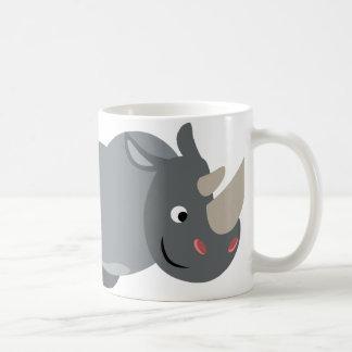 Cute Cartoon Charging Rhino Mug