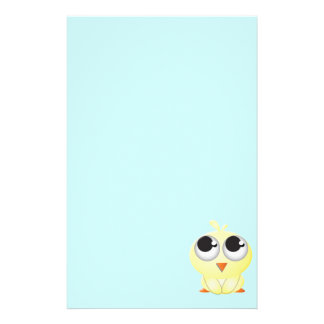 Cute Cartoon Chick Stationery Paper