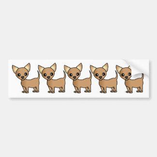 Cute Cartoon Chihuahua Bumper Sticker