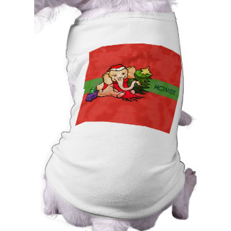 Cute Cartoon Christmas Elephant with Pet's Name Shirt