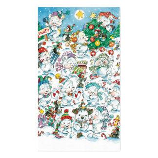 Cute Cartoon Christmas Polar Bear Penguin Party Double-Sided Standard Business Cards (Pack Of 100)