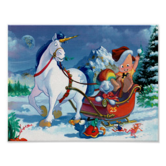 Cute cartoon Christmas poster