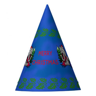 Cute Cartoon Christmas Santa Elephant Party Hat