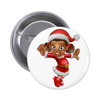 Cute Cartoon Christmas Santa Helper Elf 6 Cm Round Badge