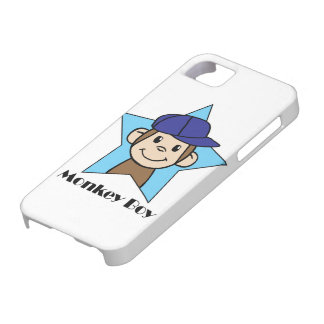 Cute Cartoon Clip Art Happy Monkey in Star w Hat Barely There iPhone 5 Case