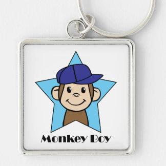Cute Cartoon Clip Art Happy Monkey in Star w Hat Key Chain